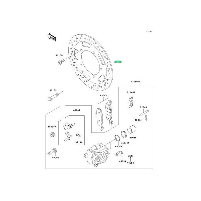 RECAMBIO DE DISCO DE FRENO DELANTERO KAWASAKI VN1600