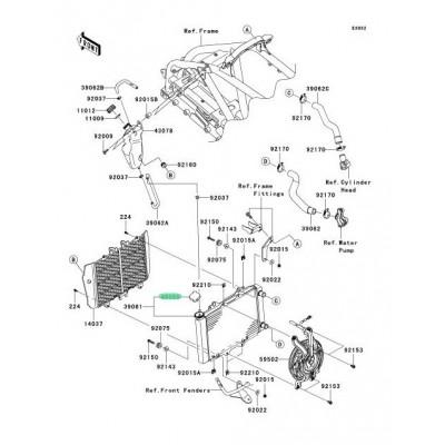 RECAMBIO DE TAPON DE RADIADOR KAWASAKI KFX450R / MULE