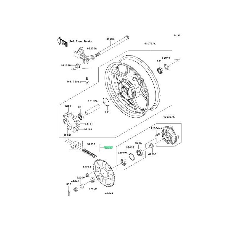 CADENA DE TRANSMISION KAWASAKI ER-6N / ER-6F / VERSYS 650