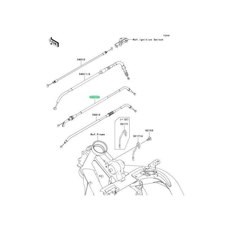 RECAMBIO DE CABLE DE CIERRE DE ACELERADOR KAWASAKI ER-6N