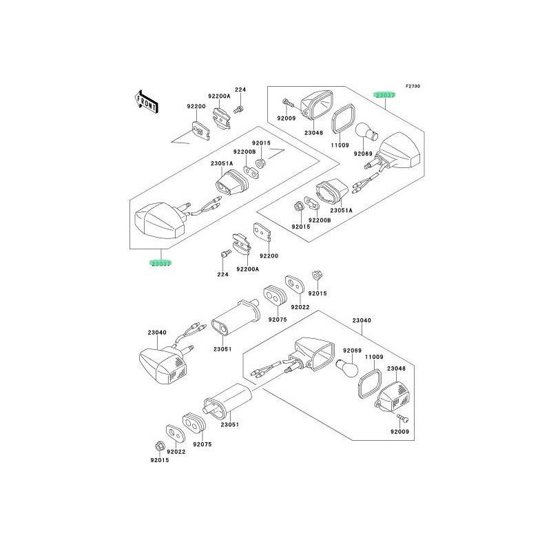 RECAMBIO DE INTERMITENTE DELANTERO KAWASAKI NINJA ZX-6R