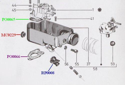 Junta Caja carburador-carter Vespa barato