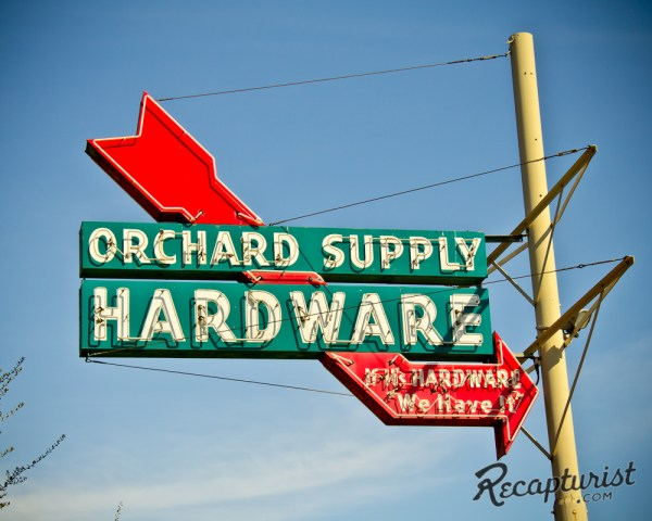 Orchard Supply Hardware San Jose Ca - Vintage Neon Signs
