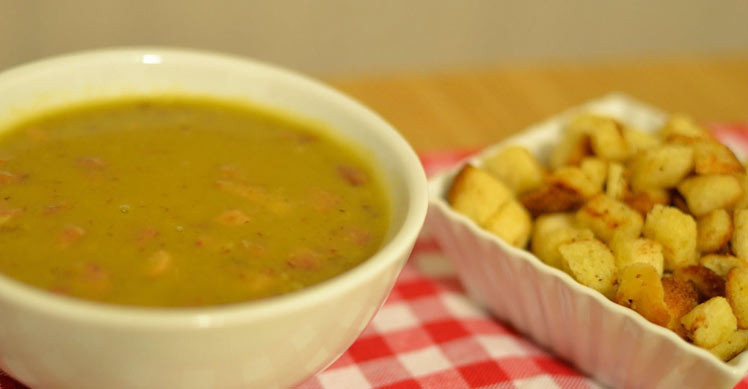 Receita de Sopa de Ervilha