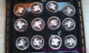 Muffin recheado de nutella13