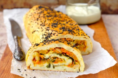Potato Roll with Vegetable Filling