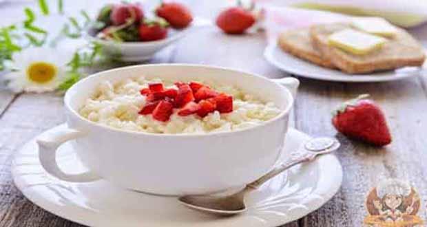 Receita de Arroz doce com leite e morangos - Receita de Feijoada Vegana