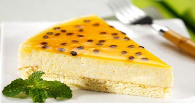 Receita de Torta light de maracujá - Torta de Ricota com Nozes e Calda de Damasco