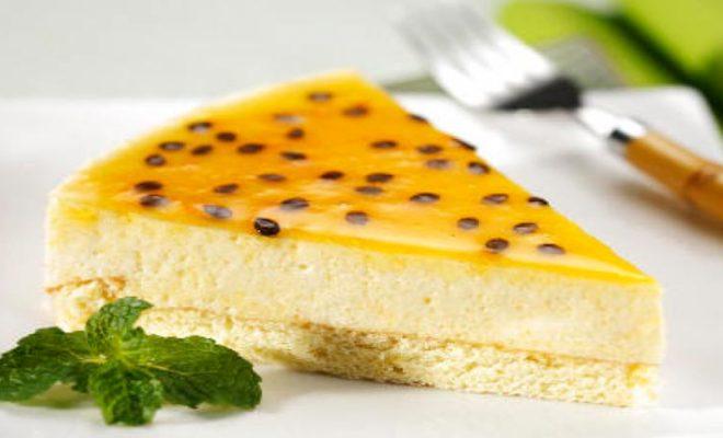 Receita de Torta light de maracujá
