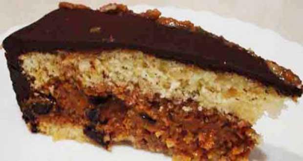 Bolo com doce de leite e cobertura de ganache - Suflê de Laranja e Chocolate com Biscoito Maizena Adria
