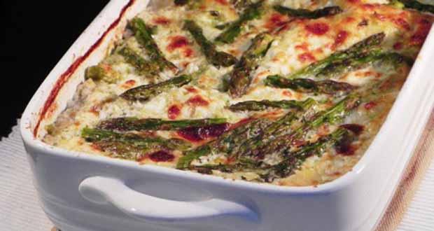 Lasanha de Aspargos Vegetariana - Cestinhas de Lasanha Recheadas