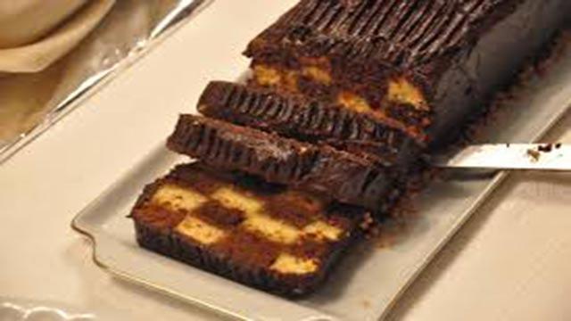Bolo Xadrez de Chocolate