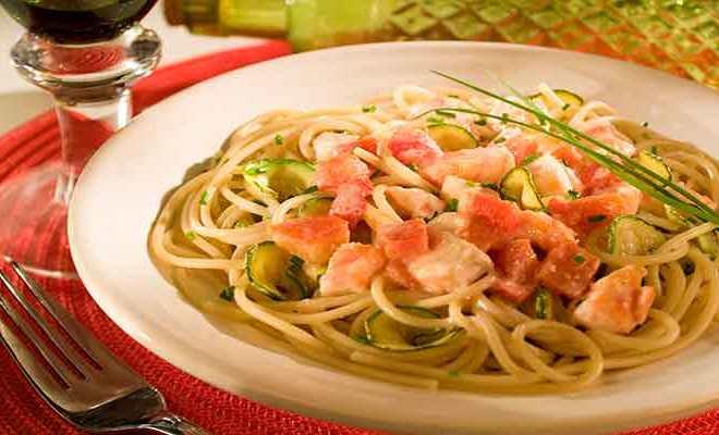 Como fazer Spaghetti com Peixe e Abobrinha - Como fazer Spaghetti com Peixe e Abobrinha