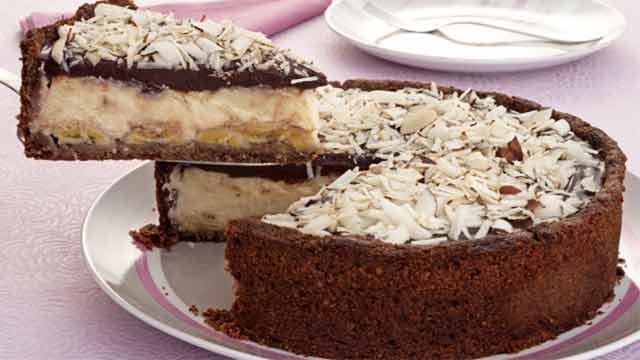 Deliciosa Torta de Banana - Como fazer Torta de Capuccino com Chocolate Amargo
