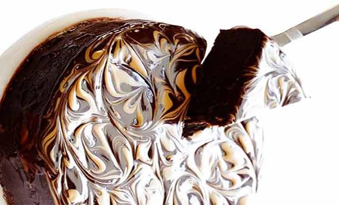 Bolo de chocolate e Manteiga de Amendoim Sem Glúten - Bolo de chocolate e Manteiga de Amendoim Sem Glúten
