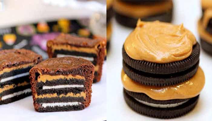 Cupcake com Recheio de Oreo e Pasta de Amendoim