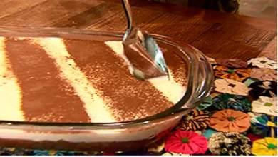 Pavê de Chocolate Preto e Branco