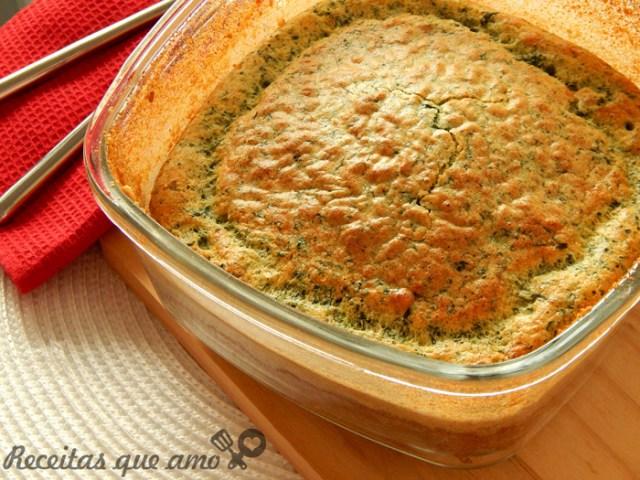 Suflê de espinafre com queijo