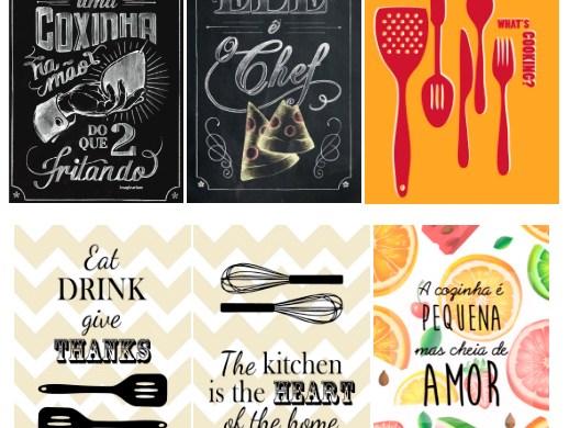 9 posters para decorar a sua cozinha