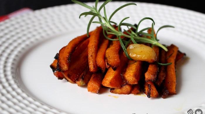 Cenoura assada