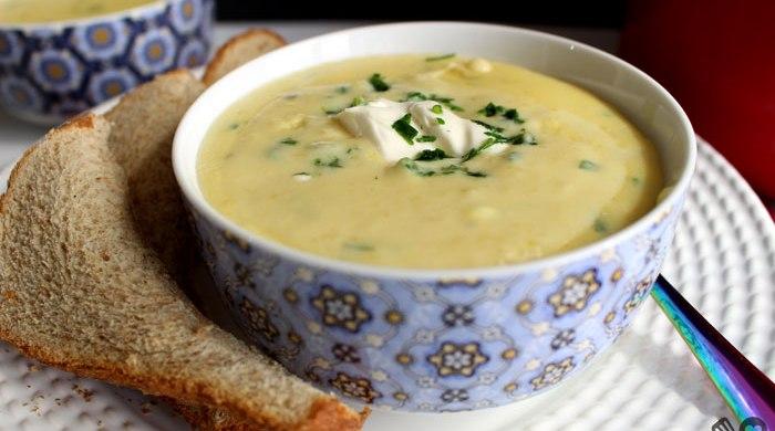 Sopa cremosa de mandioquinha