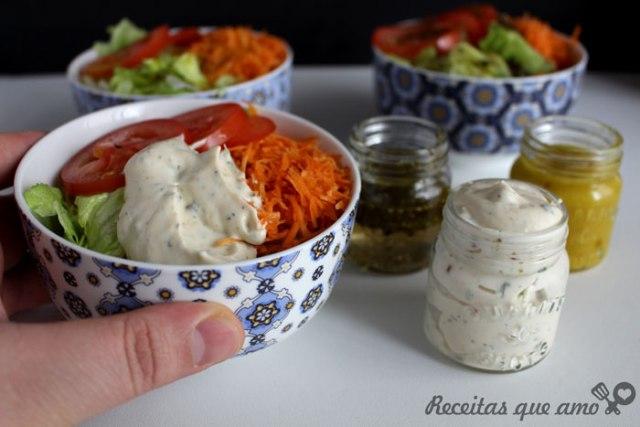 3 molhos de salada super fáceis
