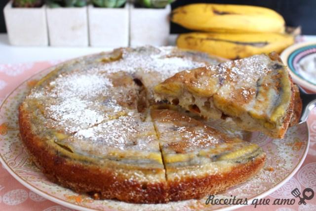 Torta de banana super fácil