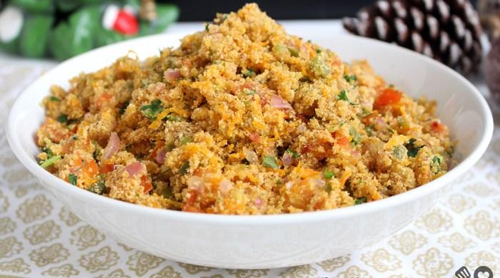 Farofa vegetariana deliciosa
