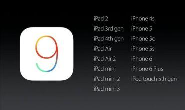 iOS 9: i dispositivi aggiornabili