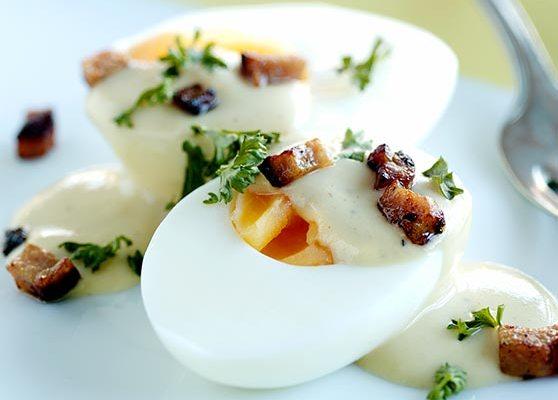 Ägg i senapssås