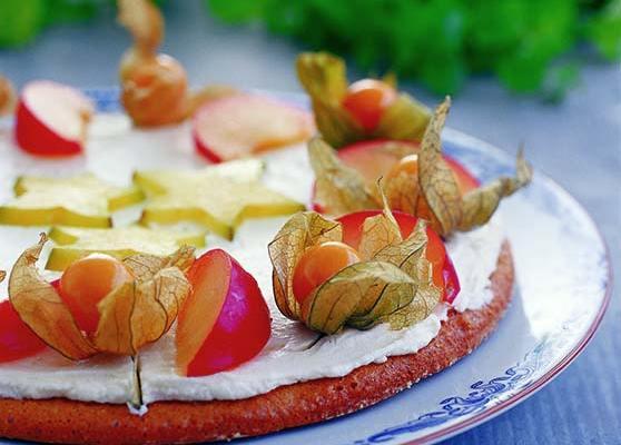 Exotisk frukttårta