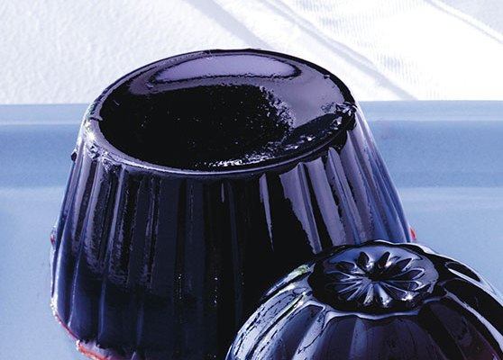 Gelé gjord på juice/vin
