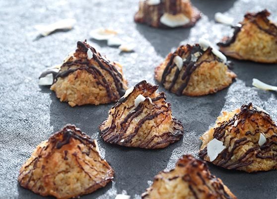 Minikokostoppar med choklad