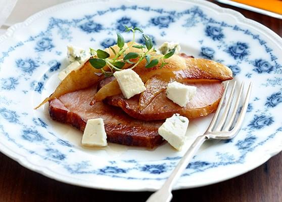 Päron och ostsallad