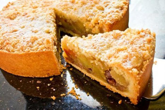 Tarta de Manzana con Crumble de Canela Receta