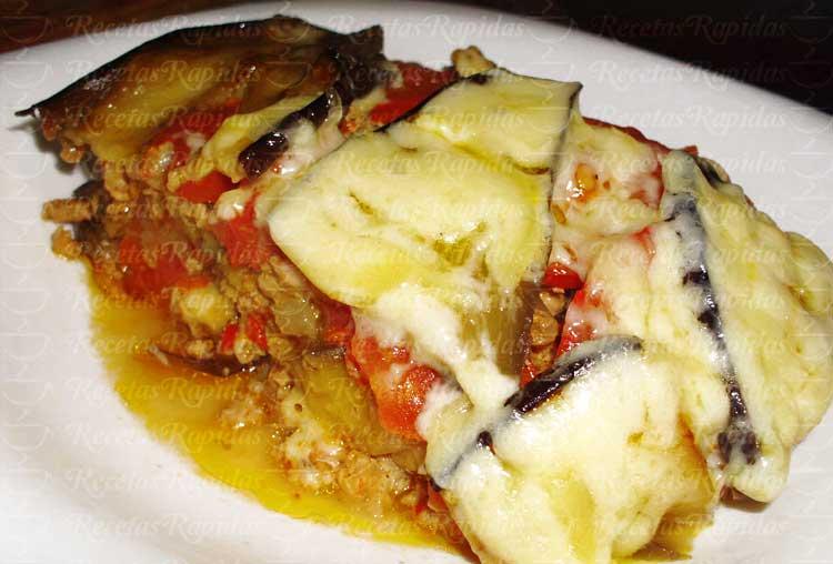 Cómo hacer Lasaña de Berenjenas con carne picada y queso