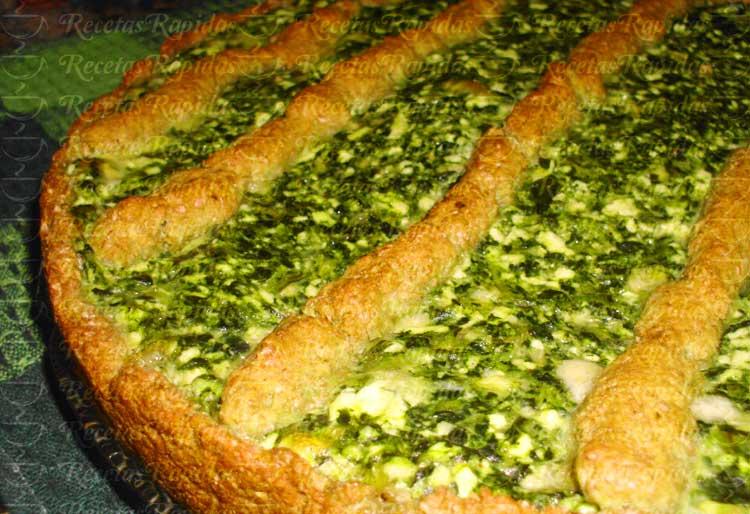 Tarta de Ricota y Espinacas con Harina Integral