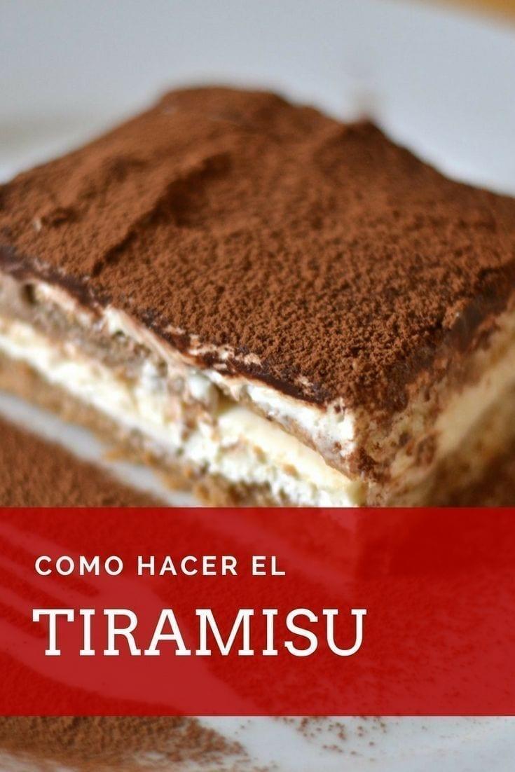 Receta Tiramisu  Recetas de Cocina