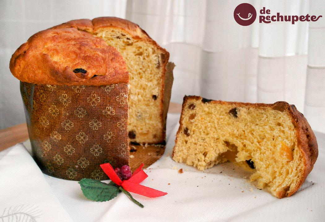 Panettone o pan dulce de Navidad