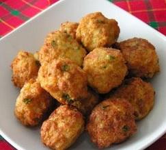 receta de Bolas de pollo y queso