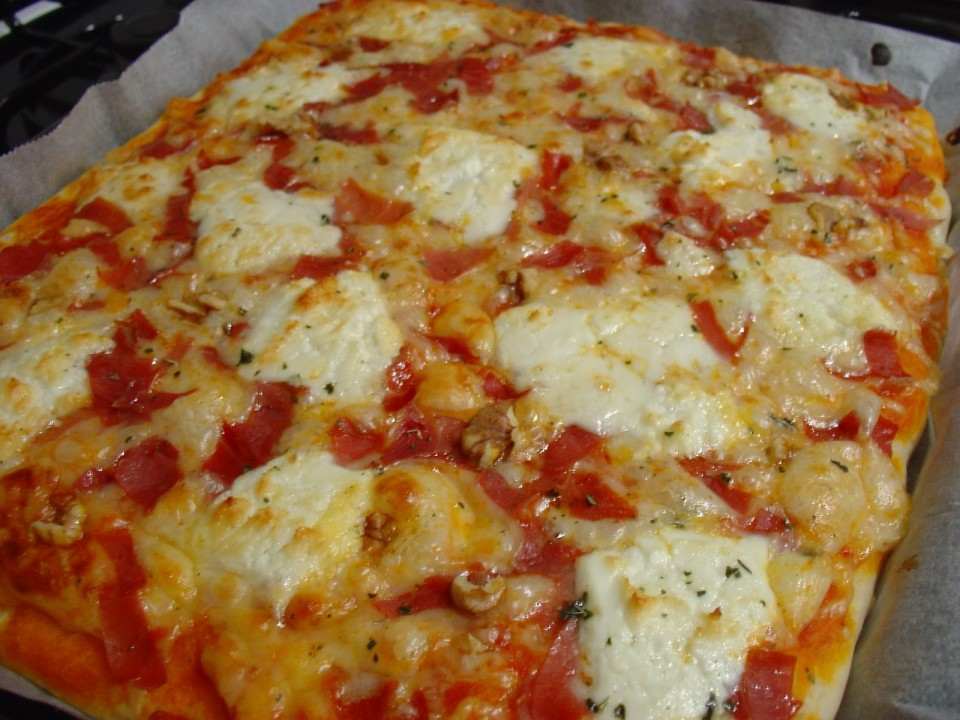 Pizza de queso de cabra  Receta fcil paso a paso