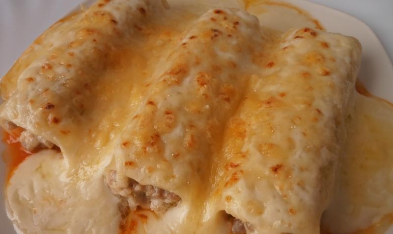 Canelones de pollo caseros  Receta fcil paso a paso