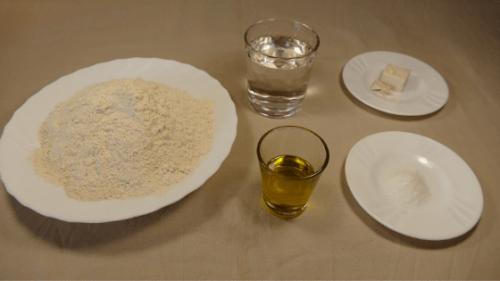 Ingredientes para el pan rápido