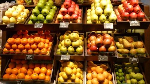 Puesto de frutas del mercado
