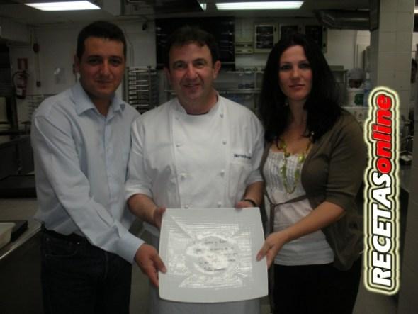 Martin Berasategui nos obsequia con un plato firmado