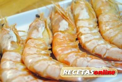 Langostinos a la sal - Recetas de cocina RECETASonline