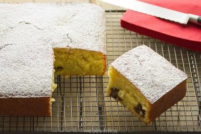 Bizcocho de naranja y turrón de chocolate - Recetas de cocina RECETAS online