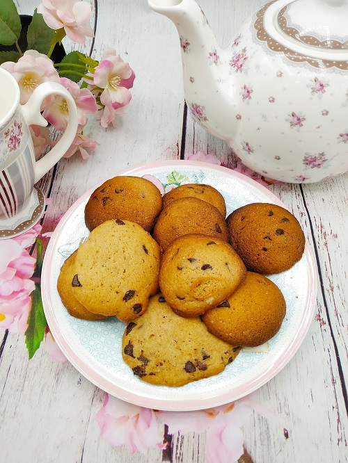 Galletas cookies con pepitas de chocolate