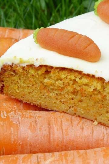 Pastel de zanahoria vegetariano