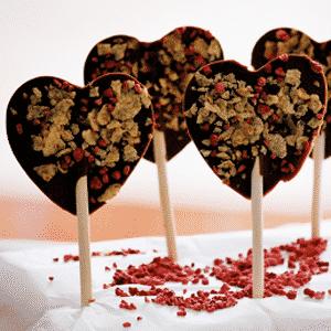Paletas de Chocolate para San Valentn  Recetas de Cocina